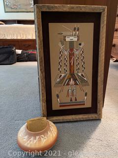 American Indian Inspired Decor Lot (Lot of 2)