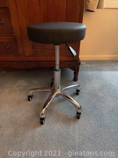 Adjustable Stool on Wheels