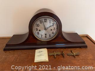 Herschede Mantle Clock W/ Keys