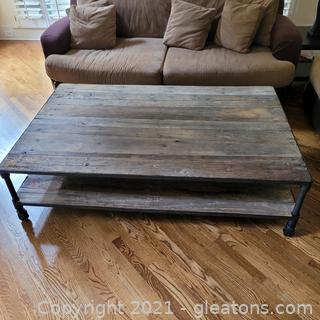Gorgeous Rustic Restoration Hardware Coffee Table (Please bring help to load this item)