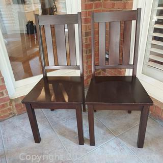 Pair of Mocha Side/Accent Chairs