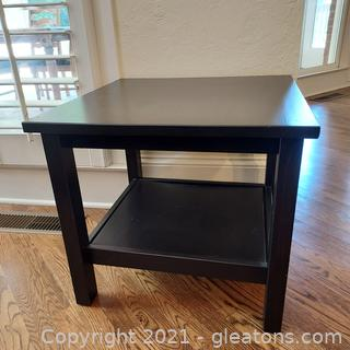 Square 2 Tier Accent/End Table