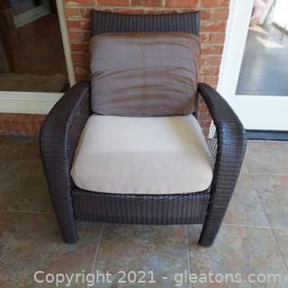 Nice Brown Wicker Patio Chair