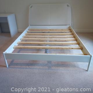 White Duken Queen Size Bed Frame