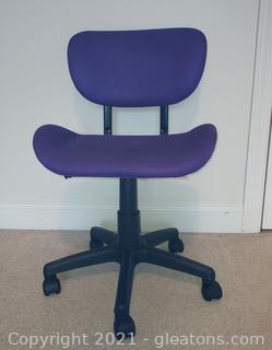 Cute Purple Adjustable Desk Chair