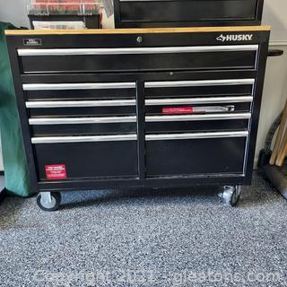 Husky 9 Drawer Deep Toolbox/Mobile Work Bench