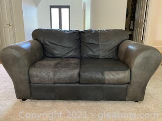 Beautiful Leather Love Seat