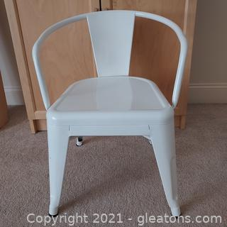 Metal Pillowfort White Activity Chair (Please See Dimensions)