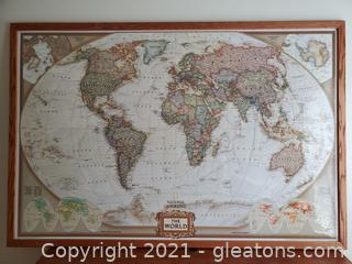 National Geographic World Wall Map
