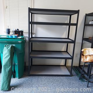 Heavy Duty Steel Shelving  Unit with Solid Shelves