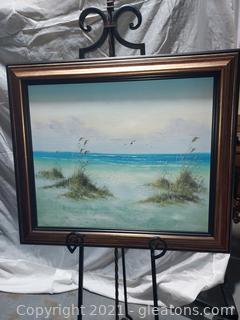 Beautiful Beach Framed Canvas