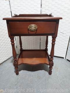 Antique Style End Table with Drawer