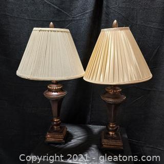 2 Splendid Table Lamps