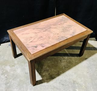 1950s Georgia Pink Marble Top Table