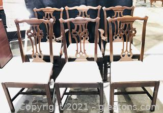 Set of 6 Mahogany Chippendale Dining Chairs
