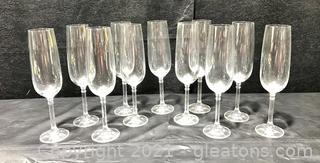 Cheers to Classic Crystal Champagne Flutes - Set of 11