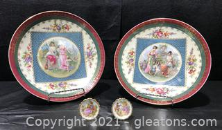 Beautiful Royal Vienna and Limoges Porcelain Display Plates