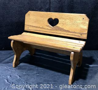 Charming Doll or Child's Bench