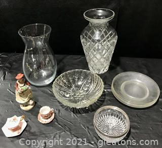 Glass and Porcelain Lot