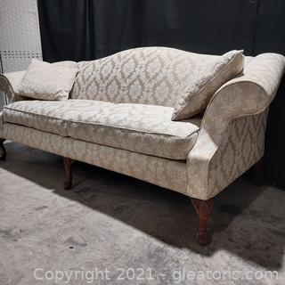 Lovely Chippendale Style Camel Back Sofa