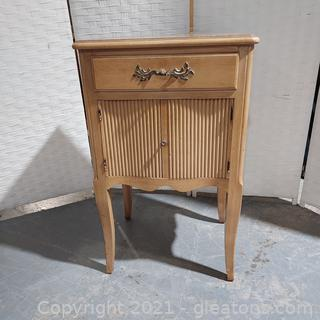 Charming French Provincial Night Stand/Side Table Purchased in 1948 From Rhodes Furniture (Goes with 2414,2415,2417)