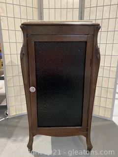 Antique Music Cabinet with Marble Top