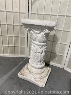 Pedestal, Cherub with Scrolls