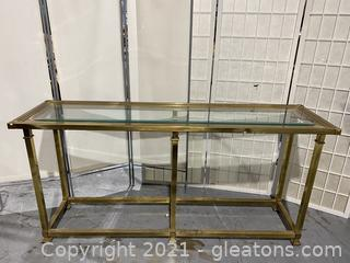 Gold Mirrored Skinny Console Table