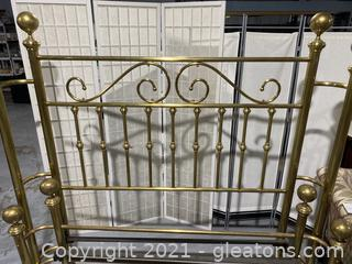 Vintage Brass Queen Size Bed Frame