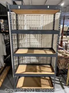 Steel Five Shelf Unit