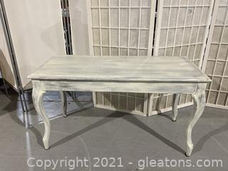 White Refurbished Piano Bench