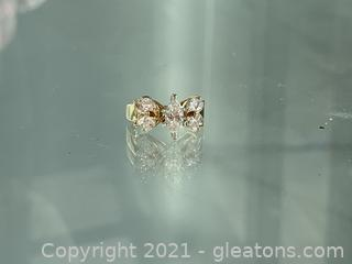 Beautiful Appraised 1.34ct Marquise Diamond Ring in 14kt Yellow Gold