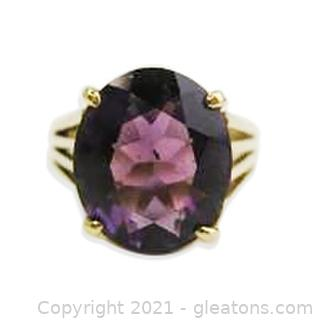 Amethyst Ring in 14kt Yellow Gold