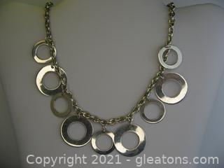 Nice Sterling Silver Link Necklace
