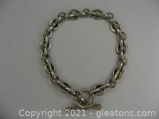 Nice Sterling Silver Heavy Link Bracelet