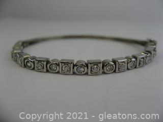 Pretty CZ Sterling Silver Bracelet