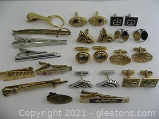 Assortment of Cufflinks and Tie Clips