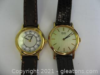 2 Ladies Seiko Watches