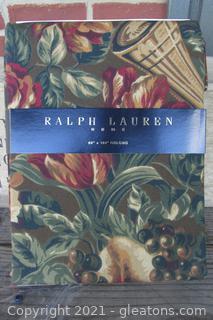 "Ralph Lauren Home 60"" x 104""  Oblong Table Cloth  Pattern Balmoral"