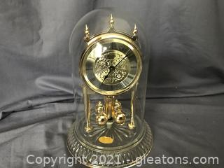 Bulova Anniversary Clock , lead crystal base made in Germany