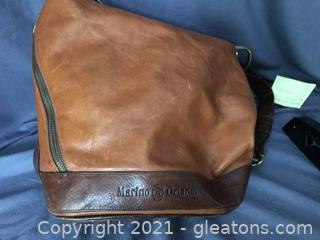 Marino Orlando all leather bag made in Italy