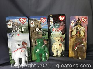 Complete set of McDonalds Beanie Babies with errors on tush tags