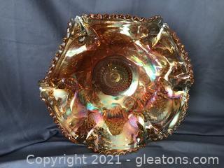 Beautiful carnival glass bowl