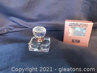 Oleg Cassini Crystal New in Box Perfume bottle