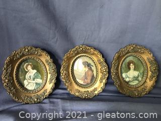 Antique A Cameo Creation, Gold gilt frames