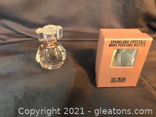 Exquisite Oleg Cassini Sparking Crystal perfume Bottle New In Box