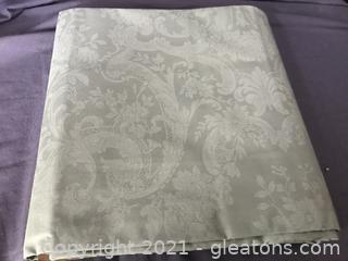 New Ralph Lauren sea foam green table cloth