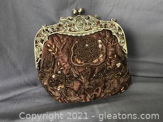 Victorian beaded evening bag