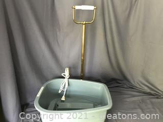 Foot spa with heat, free standing TP Holder