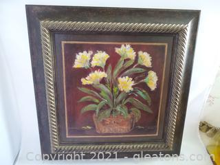 Wall Art oil over board framed